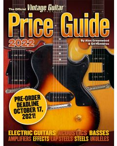 The Official Vintage Guitar® Price Guide 2022 - PRE-ORDER